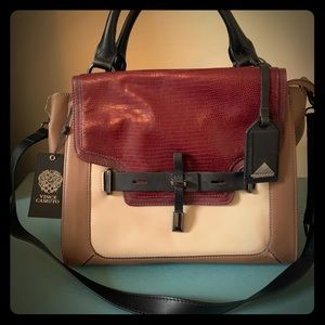 NWT Vince Camuto Max Leather Satchel